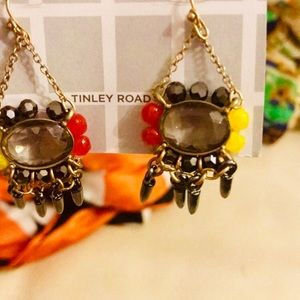 Tinley Road rhinestone gem dangle earrings